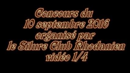 Vidéo 1/4 concours du Silure Club Rhodanien