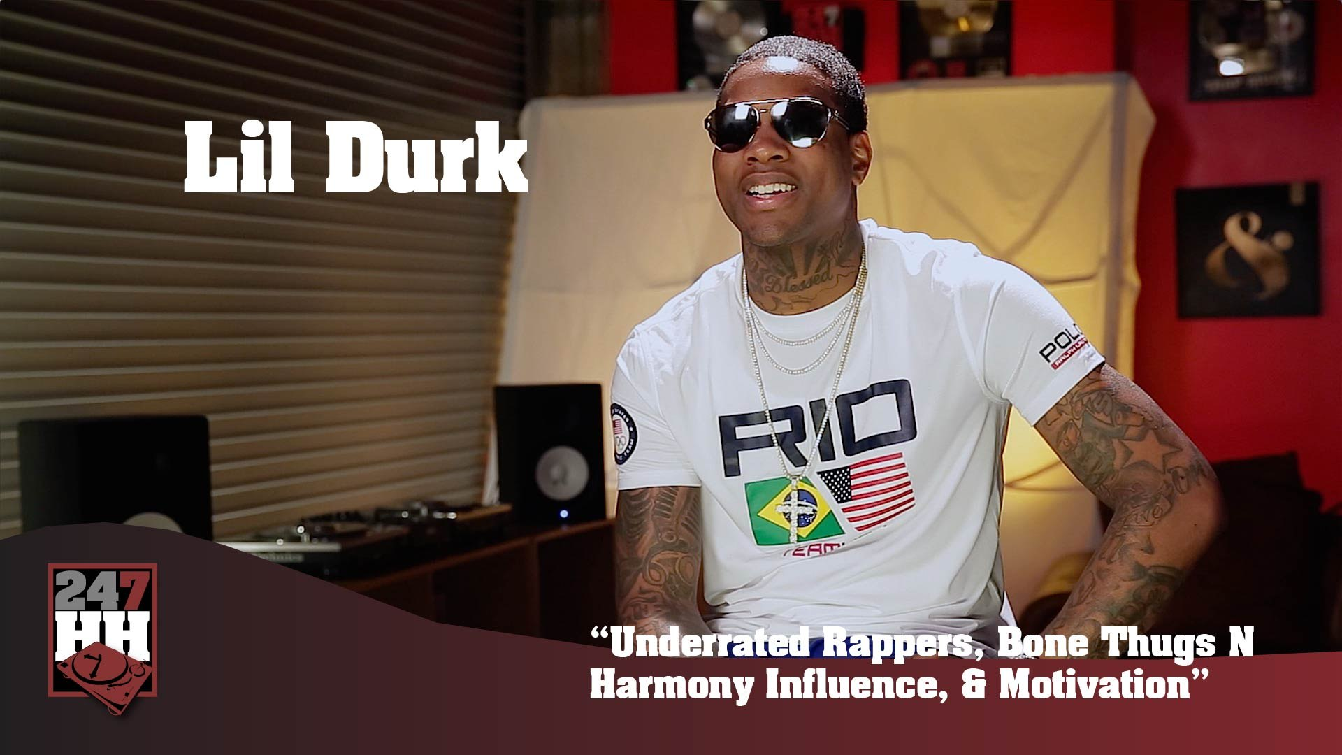 Lil Durk - Underrated Rappers, Bone Thugs N Harmony Influence, & Motivation (247HH Exclusive) (2