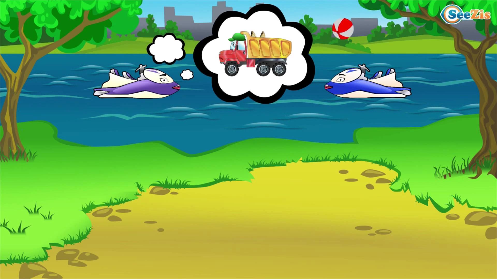 CARS cartoon – Trucks for children – Funny Fishing – Trucks and cartoons for kids. Episode 62