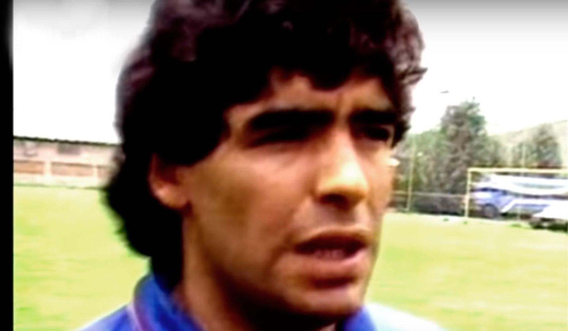 Mundial México 1986 - Previa Argentina vs Alemania - Entrevista Valdano, Maradona - Celebración