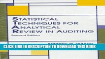 [PDF] Statistical Techniques: For Analytical Review in Auditing Popular Colection