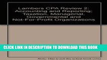 [PDF] Lambers CPA Review 2: Accounting and Reporting; Taxation, Managerial, Governmental and