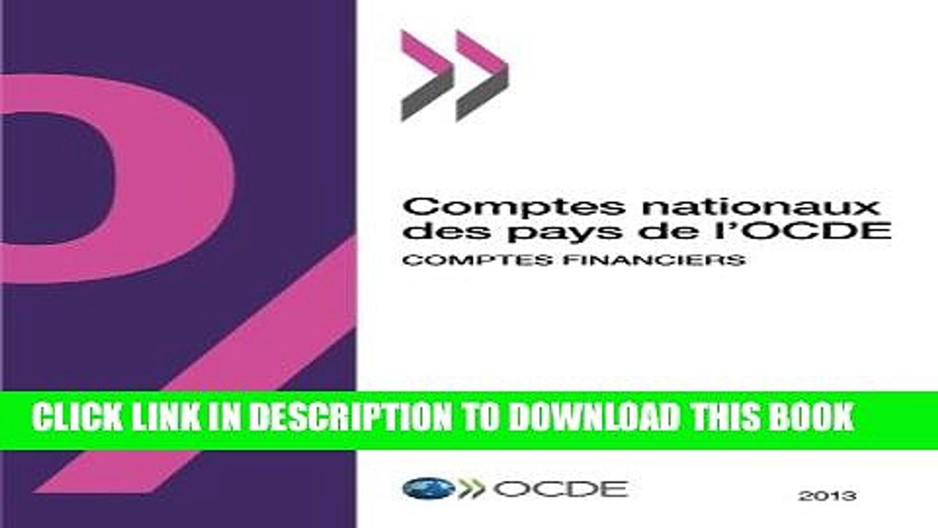 [PDF] Comptes nationaux des pays de l Ocde, Comptes financiers 2013: Edition 2013 (Volume 2013)