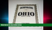 FAVORITE BOOK  Incorporating in Ohio: Without a Lawyer (Incorporating Without a Lawyer)