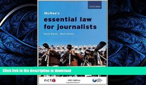 FAVORIT BOOK McNae s Essential Law for Journalists READ EBOOK