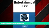 FAVORIT BOOK Entertainment Law in a Nutshell (Nutshell Series) (In a Nutshell (West Publishing))