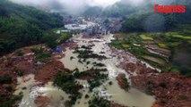 Impressionnant glissement de terrain en Chine, 32 disparus