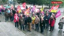 Brest. 150 personnes pour les retraites