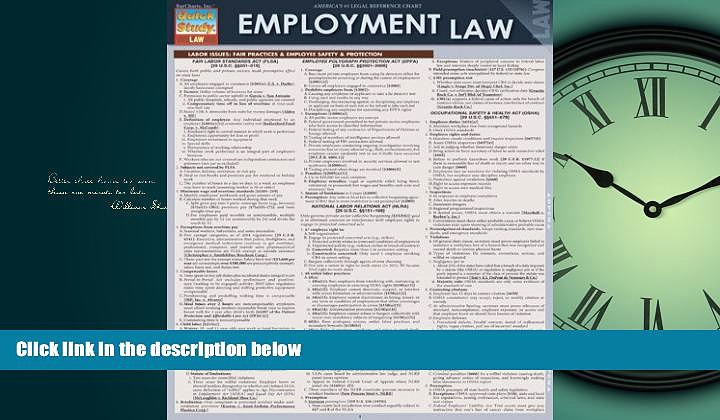 Enjoyed Read Employment Law (Quick Study: Law)