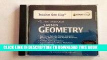 New Book Holt McDougal Larson Geometry: Common Core Teacher s One Stop Planner DVD Geometry