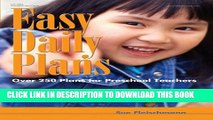 [PDF] Easy Daily Plans: Over 250 Plans for Preschool Teachers (Early Childhood Education) Popular