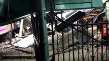 Raw footage Train crash Hoboken New Jersey 100 injured