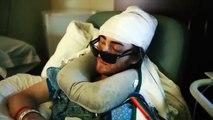 Un hombre salió de cuidados intensivos para conocer a su hijo recién nacido