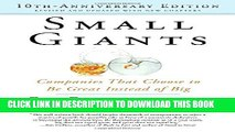 Collection Book Small Giants: Companies That Choose to Be Great Instead of Big, 10th-Anniversary