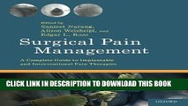 Collection Book Surgical Pain Management: A Complete Guide to Implantable and Interventional Pain
