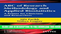 Collection Book ABC of Research Methodology and Applied Biostatistics