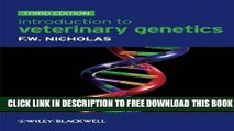 New Book Introduction to Veterinary Genetics