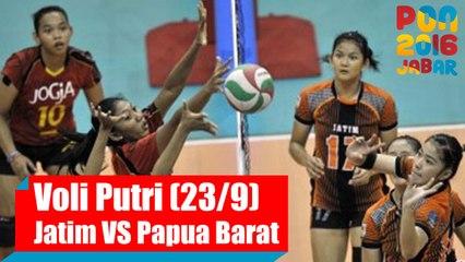 Voli Indoor - (Putri) Jawa Timur vs Papua Barat, Rabu (28/9)