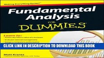 [PDF] Fundamental Analysis For Dummies Full Collection