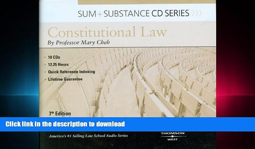 READ PDF Sum   Substance Audio on Constitutional Law (CD) (Sum and Substance) READ EBOOK