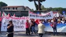 """Castel Volturno (CE) - Rischio chiusura per la """"Clinica Pineta Grande"""", cittadini in protesta (30.09.16)"""