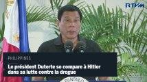 """Philippines : le président Duterte se compare à Hitler et se dit """"heureux de massacrer"""" les drogués"""