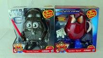 Spiderman vs Darth Vader Mr. Potato Heads Marvel Spider Spud and Star Wars Darth Tater Toys