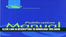 Ebook Publication Manual of the American Psychological Association Free Read