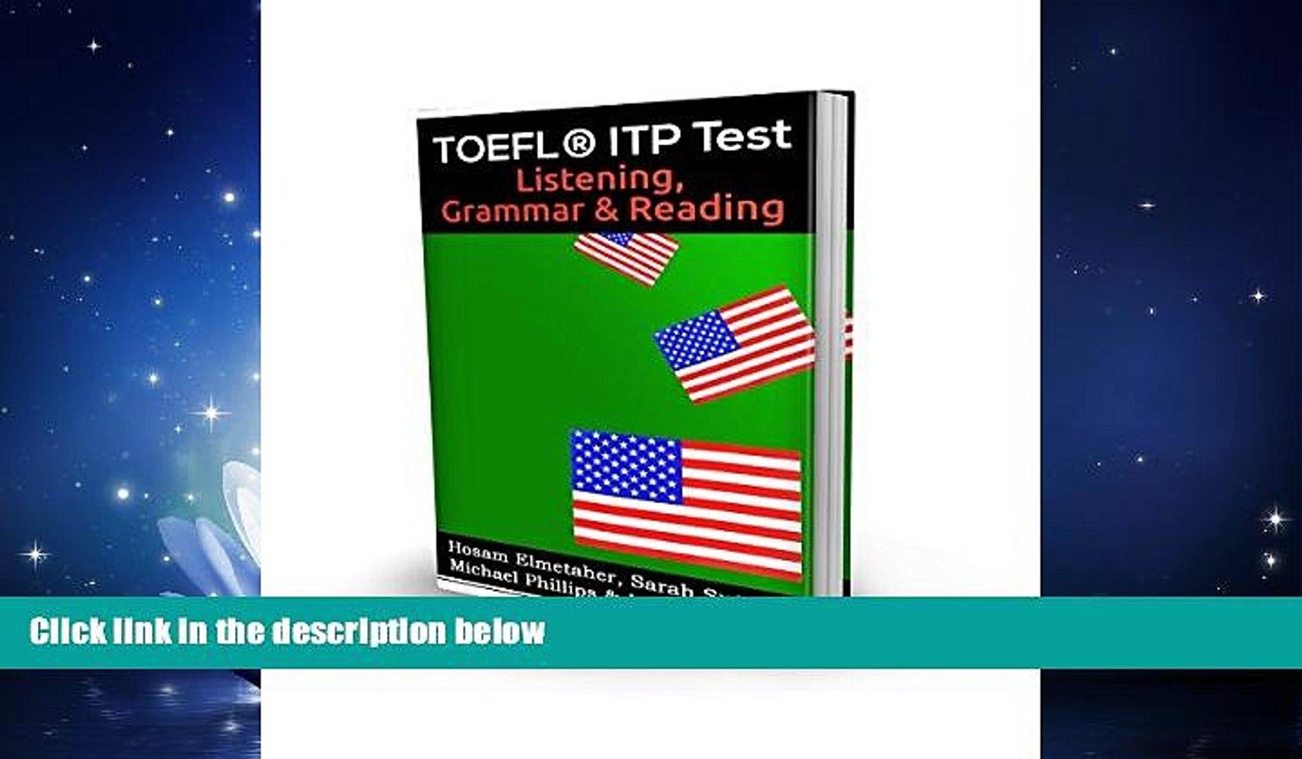 Try These Toefl ® Itp Test Listening Grammar & Reading Pdf