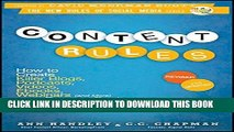 [Ebook] Content Rules: How to Create Killer Blogs, Podcasts, Videos, Ebooks, Webinars (and More)