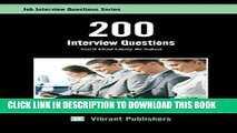 [PDF] 200 Interview Questions You ll Most Likely Be Asked (Job Interview Questions Series) Popular