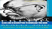 Read Now What Freud Really Said: An Introduction to His Life and Thought (What They Really Said