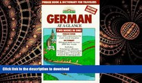 FAVORIT BOOK German at a Glance: Phrase Book   Dictionary for Travelers (Barron s Languages at a
