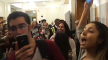 Protesters storm Israel event at UK campus