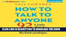 Ebook How to Talk to Anyone: 92 Little Tricks for Big Success in Relationships Free Read