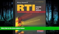 Enjoyed Read RTI from All Sides: What Every Teacher Needs to Know