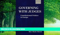 Big Deals  Governing with Judges: Constitutional Politics in Europe  Best Seller Books Most Wanted