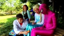 Frozen Elsa Gets BRACES! w_ Spiderman Joker Anna Maleficent Spidergirl Bubble Gum! Superhero Fun IRL - YouTube