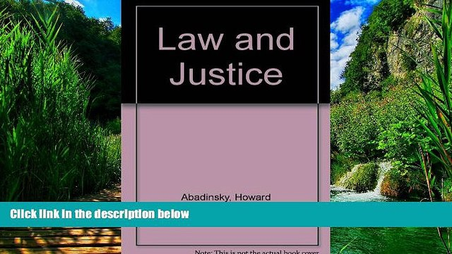 Big Deals  Law and Justice (Nelson-Hall series in justice administration)  Best Seller Books Most