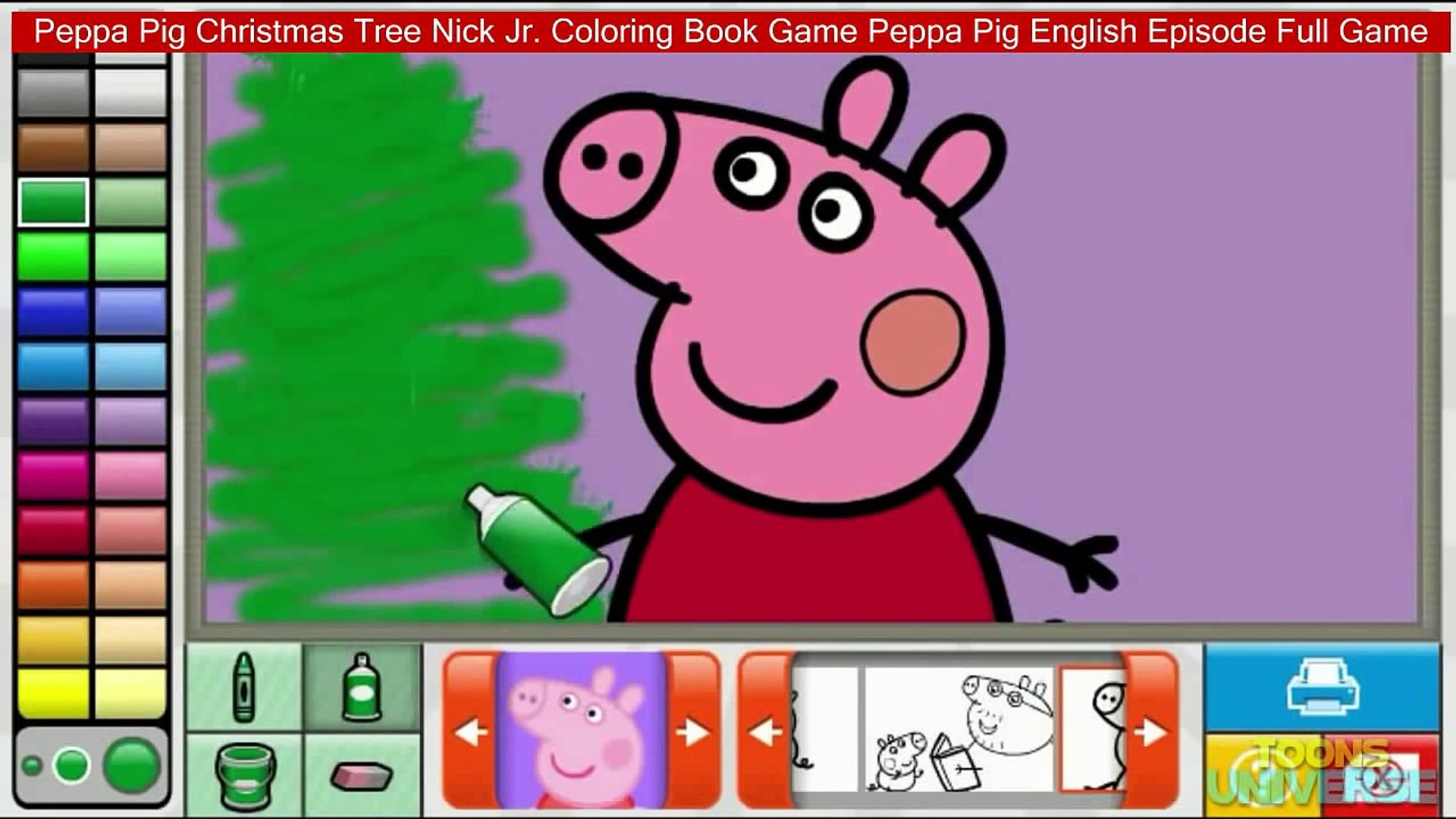 - Peppa Pig Christmas Tree Nick Jr. Coloring Book Game Peppa Pig