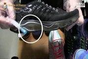 Cocaina liquida nelle scarpe, un arresto