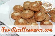 Biscuits Marocains aux Cacahuètes & Amandes - Moroccan Peanut & Almond Cookies - غريبة بالكاوكاو