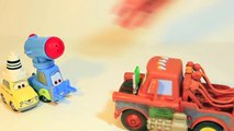 Secret Agent Mater Modifies Lego Guido and Lego Luigi Disney Cars 2 Toys Undercover Pixar Cars