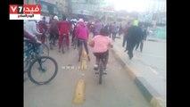 انطلاق ماراثون دراجات فى شبين الكوم بالمنوفية