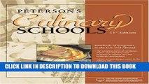 Ebook Culinary Schools, 11th Edition (Peterson s Culinary Schools) Free Read