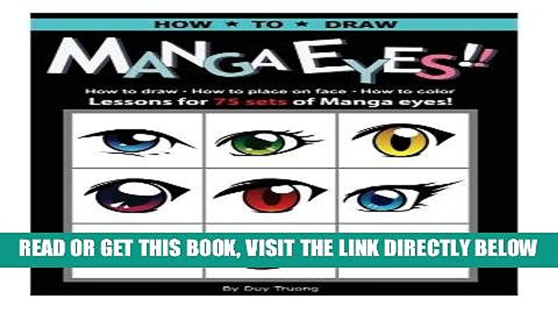 Ebook How to draw Manga eyes!! How to Draw- How to Place on Face-How to Color Lessons for 75 Sets