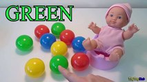 Learn Counting Baby Doll & Colors to Learn - Numbers Counting w/ Color Balls - K