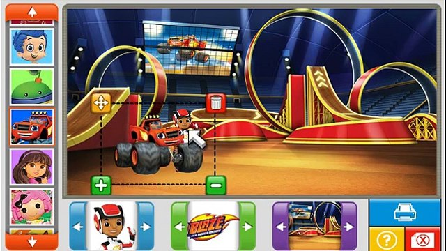 Blaze and the Monster Machines NEW Game - Blaze and the Monster Machines Nick Stickers!