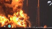 Foguete Espaço X carregando satélite do Facebook explode na plataforma de lançamento.