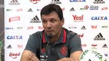 Zé Ricardo isenta a arbitragem de erros no jogo entre Atlético-MG e Flamengo: 'Teve uma boa atuação'